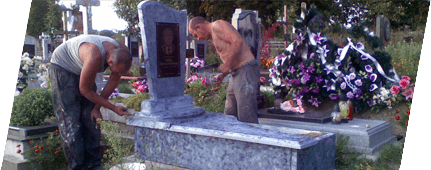 Restoration of graves and monuments